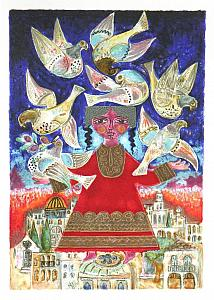 Seven Doves Over Jerusalem
