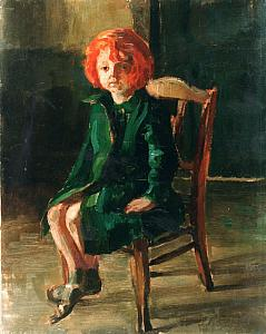 Red Haired Girl in a Green Coat